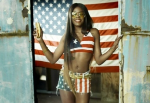 A still from Azealia's video for 'Liquorice'